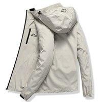 Casual Windbreaker Jacket Men Spring Autumn Outwear Military Waterproof Jackets Male Hooded Coat Tourism Mountain Jacket Men