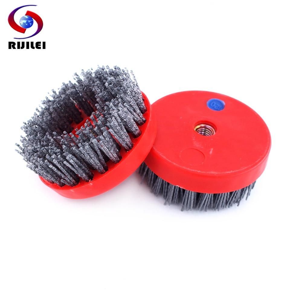 4inch Round Antique Diamond Grinding Abrasive Brush For Stone Polishing Hard Nylon Disc Floor Cleaning Abrasive Brush YG29