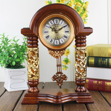 14.5 Inches Table Clock The Living Room Floor Resin Mute Watch Creative Personality Swing Clock Home Decor Desk Clock
