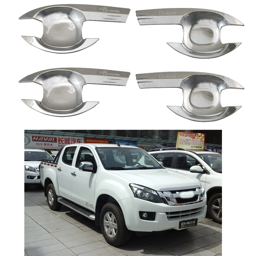 For Isuzu D-Max 2012 2013 2014 2015 2016 2017 2018 High-quality Car The door handle bowl Covers ABS Chrome Accessories Stickers image