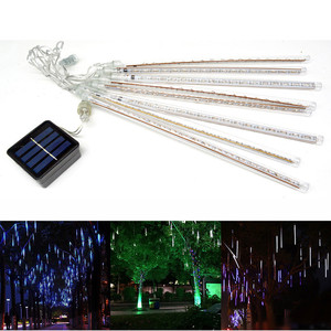 LED House Solar Meteor Shower Rain Light String 20 LED Bulbs String Lights Waterproof Outdoor New Year Wedding Party Light Decor(China)