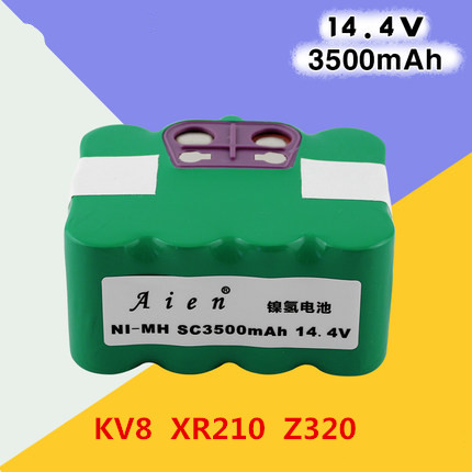 14.4v 3500mAh Ni-MH Vacuum Cleaner battery for  KV8  XR210 A   R-770  FM-018  FM-058  M320 M520 /  V700  V770  Z320  A320  A325 2017 hot sale 14 4v ni mh 3500mah vacuum cleaner sweeping robot rechargeable battery pack for kv8 xr210 fm 019 indream9200 etc