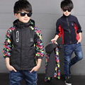 Winter Thicken Double-deck Waterproof Windproof Boys Girls Jackets Children Outerwear Warm Coat Sporty Kids Clothes For 3-14T