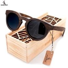 BOBO VOGEL Bambus Sonnenbrille Männer Holz Sonnenbrille Markendesigner Original Holz Polarisierte Sonnenbrille Oculos De Sol Masculino