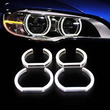 Free shipping new car styling LED Crystal Angel eyes 2* (150mm+120mm) for E91 Coupe 2007~2010 auto headlight