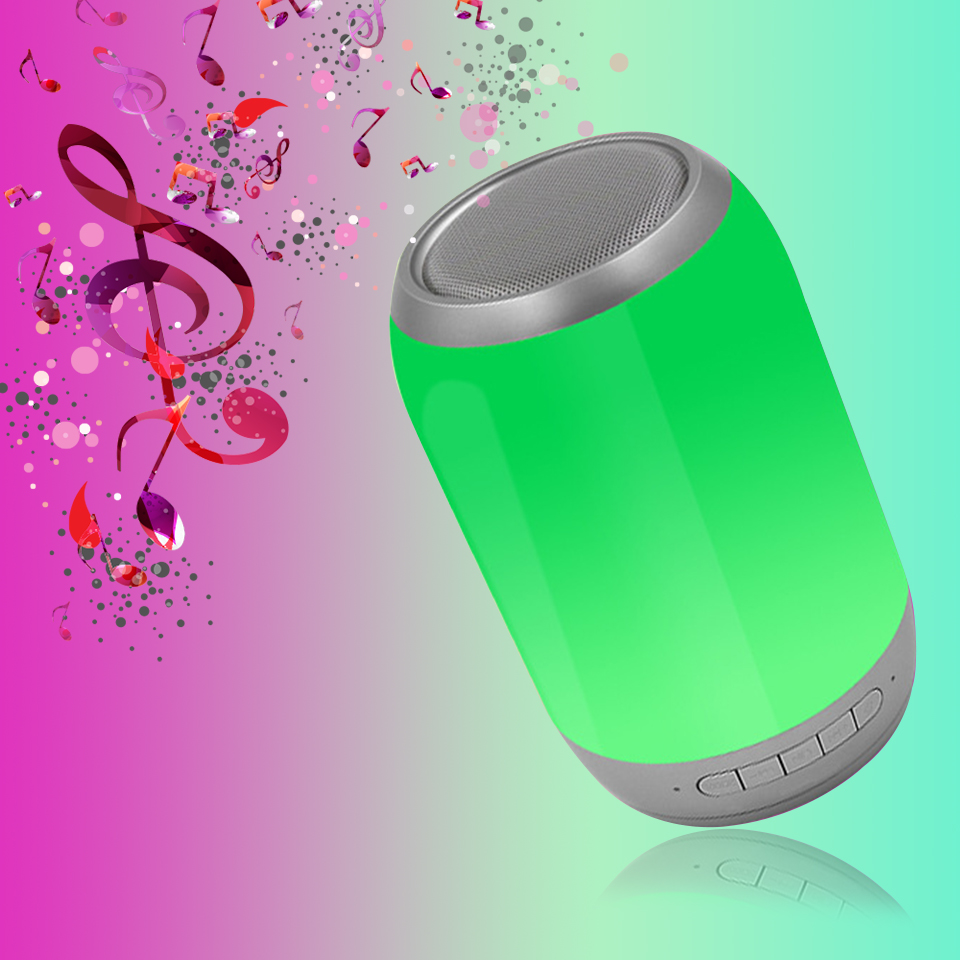 Wireless Bluetooth Speaker Portable LED Music Pulse Subwoofer Bluetooth Sound Box USB Car Bar Sound Column
