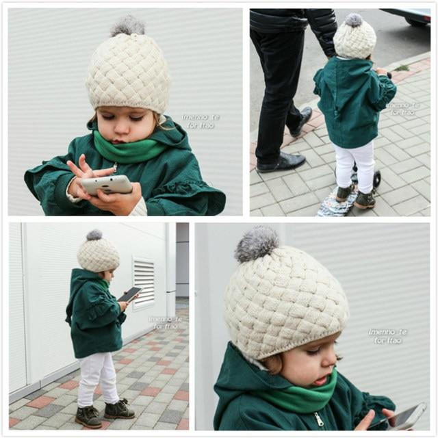 Tienda Online DMROLES 2018 nuevo sombrero de invierno de bebé de ...