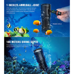 100m LED Diving Flashlight Rechargeable Torch Light Lamp Waterproof Lights 2300 Lumen Led Flash Light  Use X32650 battery