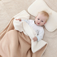 Baby Blankets Winter Organic Cotton Fleece Swaddles for Newborns Supper Soft Kids Stroller Bedding Wrap 100x130cm Bath Towel