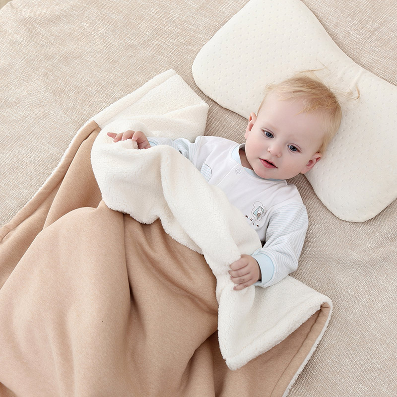 Baby Blankets Winter Warm Organic Cotton Berber Fleece Swaddles For Newborns Thick Soft Infant Bedding Hold Wraps 100x130cm zhh warm soft fleece strip blankets double layer thick plush throw on sofa bed plane plaids solid bedspreads home textile 1pc