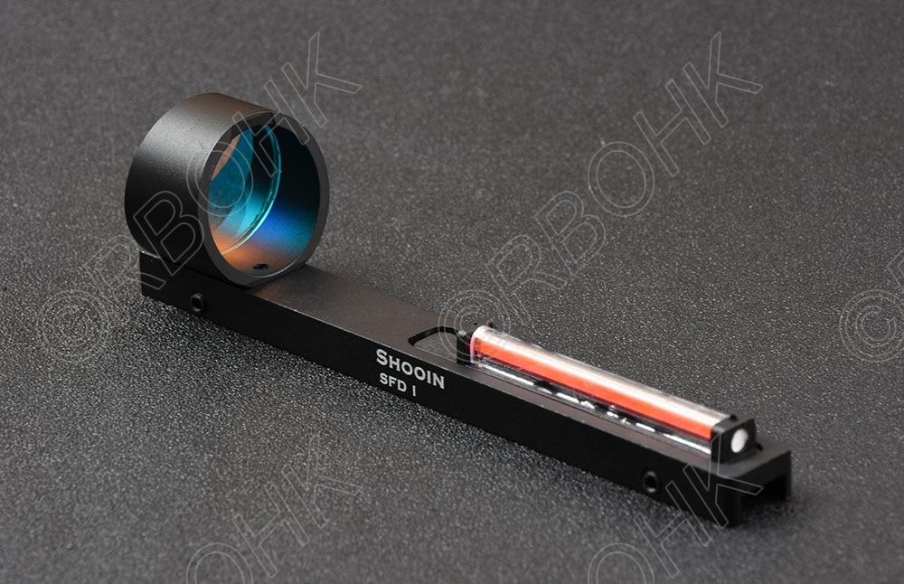 Shooin SFD I Lightweight Shotgun Hunting Red Fiber Optics 1x Red Dot Holographic Sight Scope Fit Shotgun Rib Rail R9192