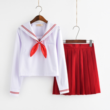 UPHYD Japanese Student Uniform Lolita School Uniforms Sakura Embroidery High Sailor Suits Top+Skirt+Tie