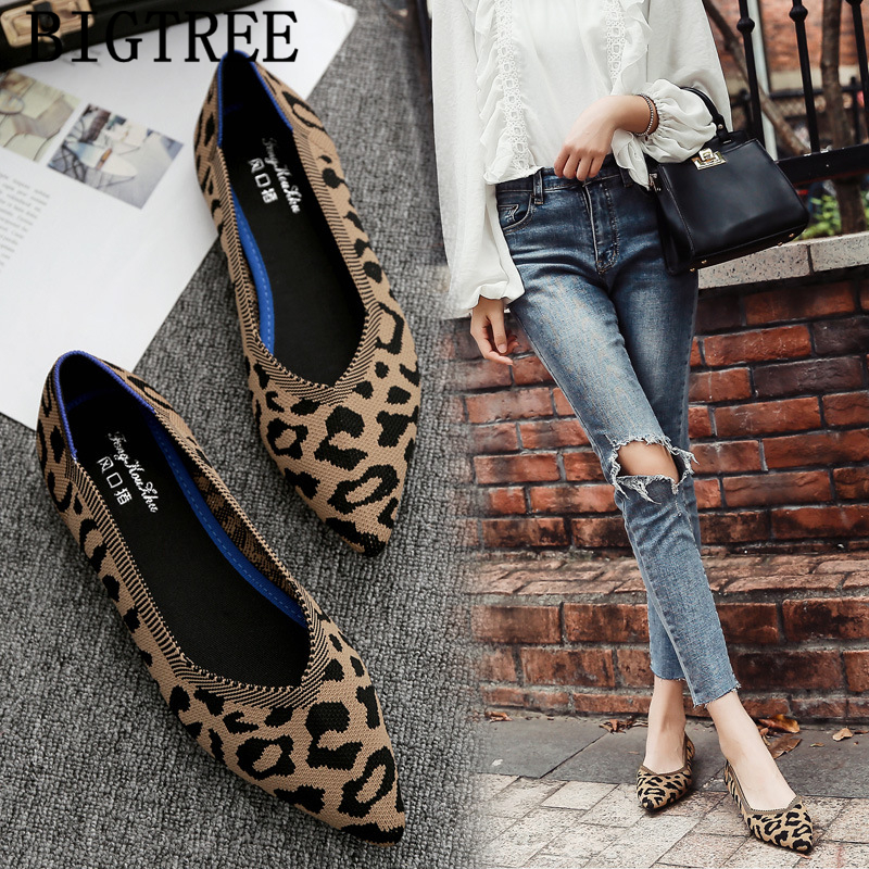 Leopard Shoes Women Ladies Flat Shoes Creepers Women Loafers Harajuku Shoes Woman 2019 Mocasines Casuales Mujer Sapato Feminino