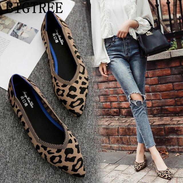low priced 29ae7 bf8a9 Leopardo scarpe delle signore donne basse creepers mocassini harajuku da  donna 2019 mocasines casuales mujer sapato feminino