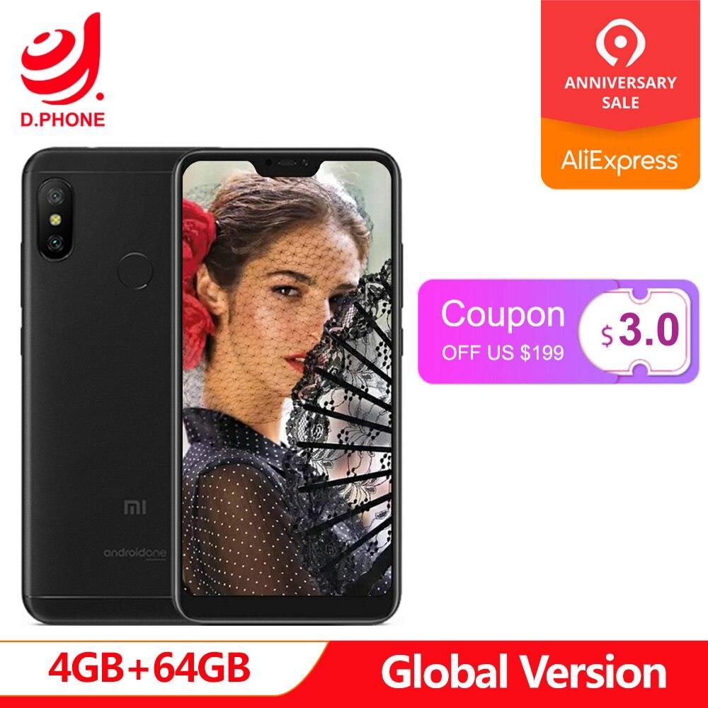 Version mondiale Xiao mi A2 Lite 4 GB RAM 64 GB ROM SmartPhone Snapdragon 625 Octa Core 5.84