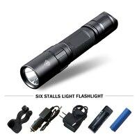 tactical flashlight powerful led flashlight self defense flash light torch waterproof hunting lamp 18650 battery lanterna tatica