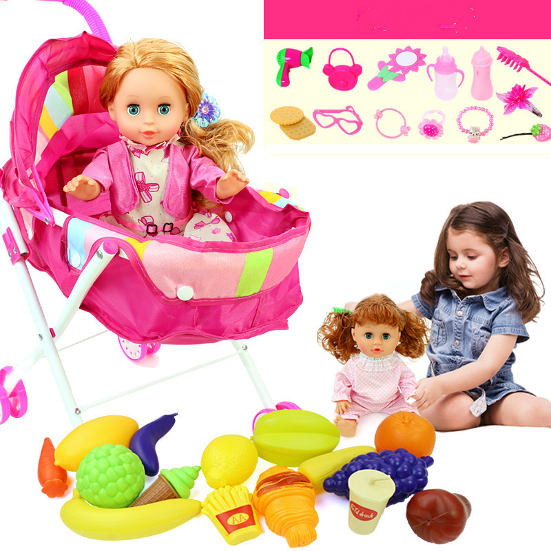 ФОТО Child with toy trolley Child With Baby Girl GIRL WITH TOGETHER TOYS Trolley toy baby baby cart