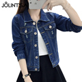 4XL Denim Jacket Women 2017 Spring Autumn Fashion Frayed Jeans Jacket Turn-down Collar Hole Casual Basic Coat Ladies Outwear