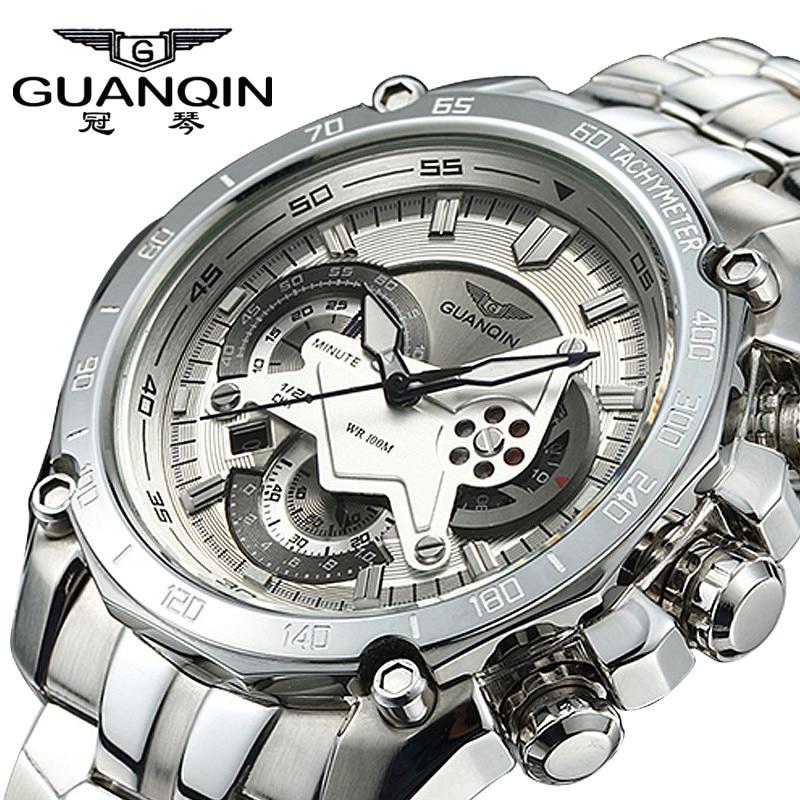 online get cheap famous brand watches aliexpress com alibaba group original guanqin men quartz watch luminous famous brand men business watch waterproof watches clock stainless steel