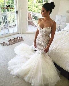 Image 2 - Robe De Mariee QUEEN BRAUT 2020 Sexy Meerjungfrau Backless Hochzeit Kleid Vestidos De Novias Maß Brautkleid HC87