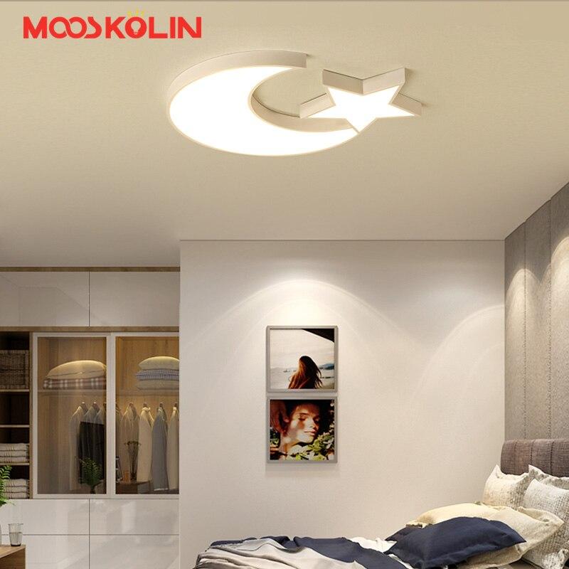 Moderno LED Luci di Soffitto Per Camera Da Letto Dei Bambini del capretto Bianco stella a cinque punte lampada da Soffitto AC96-Decorazione Della Casa lampada
