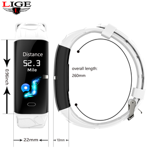 Image 5 - LIGE New Sport Smart Bracelet Women IP68 Waterproof Fitness Tracker Heart Rate Monitor Pedometer Smart Watch For Android ios+Box