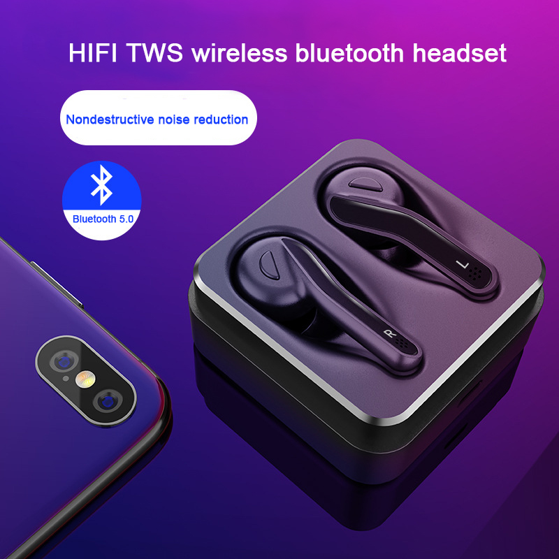 2018 new TWS Bluetooth 5.0 wireless earphone IPX5 Waterproof anti - sweat noise reduction earphone with 240 mAh Charging box 2018 new mini tws wireless bluetooth5 0 ipx5 waterproof and sweat proof sports earphone with led charger box for mobile phone