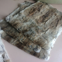 Wholesale high quality tanned whole pelt tanned rabbit skin