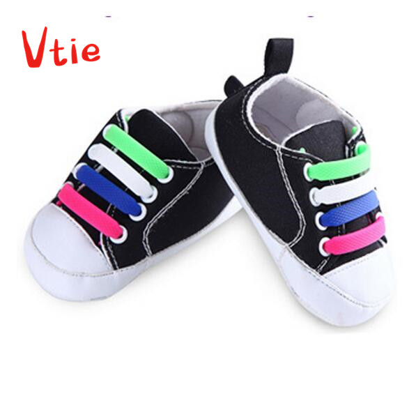 1Set/12Pcs Kids Child Silicone Elastic Shoes Laces Waterproof All Sneakers Fit Strap Shoelaces For First Walkers Baby Shoeslace