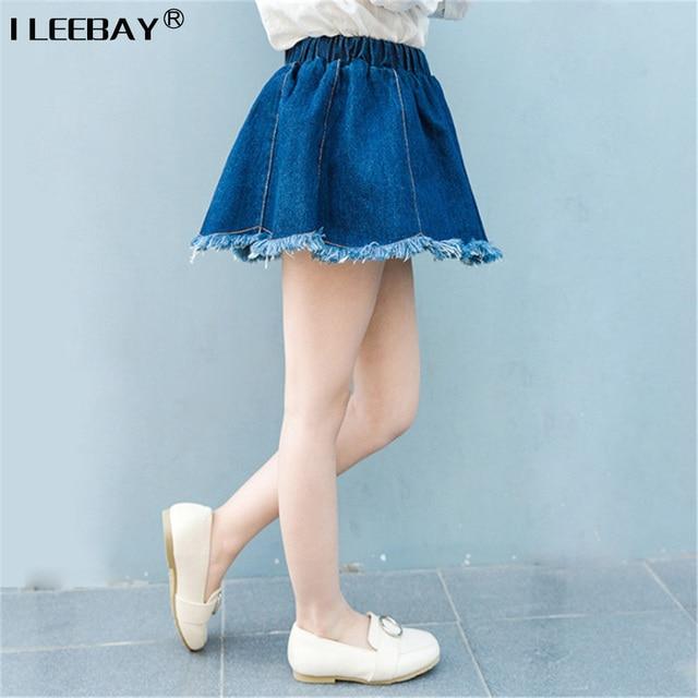 Baby Girls All Match Jean Skirts Kids Casual Denim Skirts