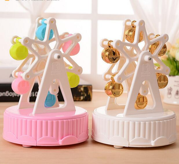 Christmas Ferris Wheel Music Box.Us 9 83 6 Off Cartoon Happy Ferris Wheel Music Box Dynamic Rotating Music Box Decorative Christmas Musicbox Jewelry Storage Box Gifts In Music Boxes