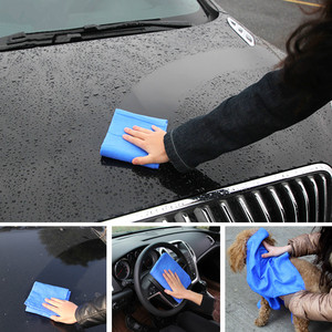 Image 4 - 43*32*0.2CM  Super Absorption  Microfiber Car Care Towel Car Wash Towel Cleaning PEVA Towel Synthetic Suede Chamois  Car Styling