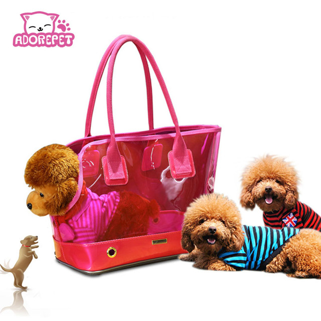 Cute transparent small Pet cat dog Travel luxury Carrier bag Chihuahua dog  puppy outdoor Portable carrying bags tote handbag 3b9c53c4a57ab