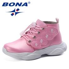 BONA 2019 Spring Autumn Children Sport Shoes Fashion Kids Antislip Soft Sneakers