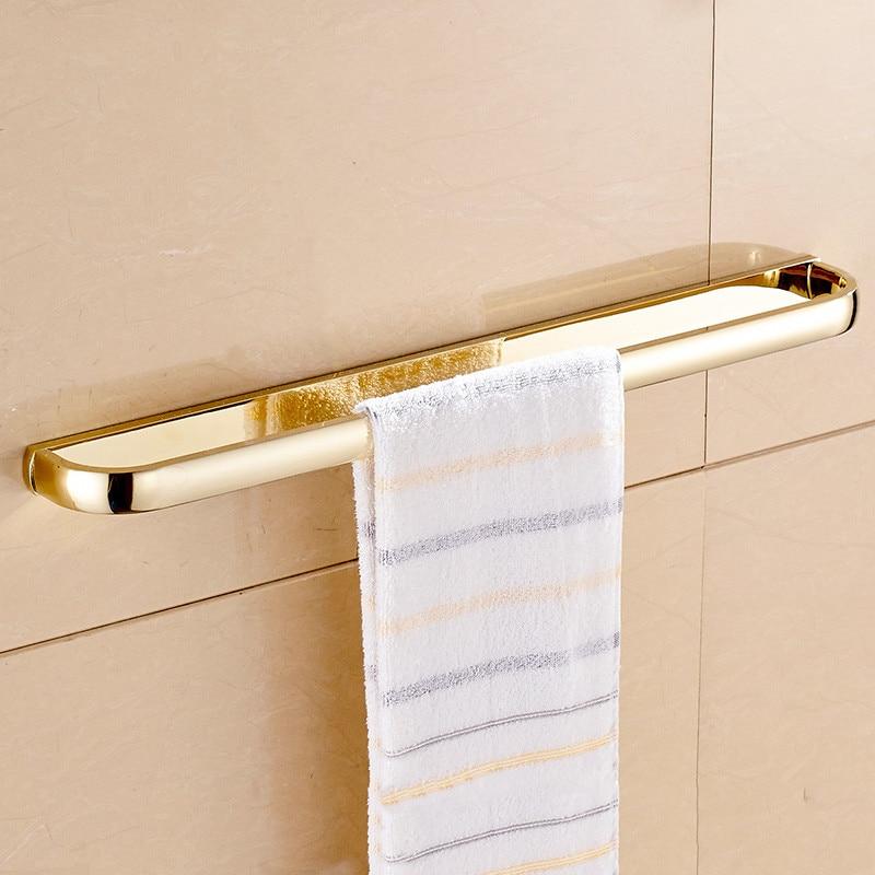 Towel Bars 60cm Solid Brass Bathroom Shelf Towel Holder Hanger Towel ...
