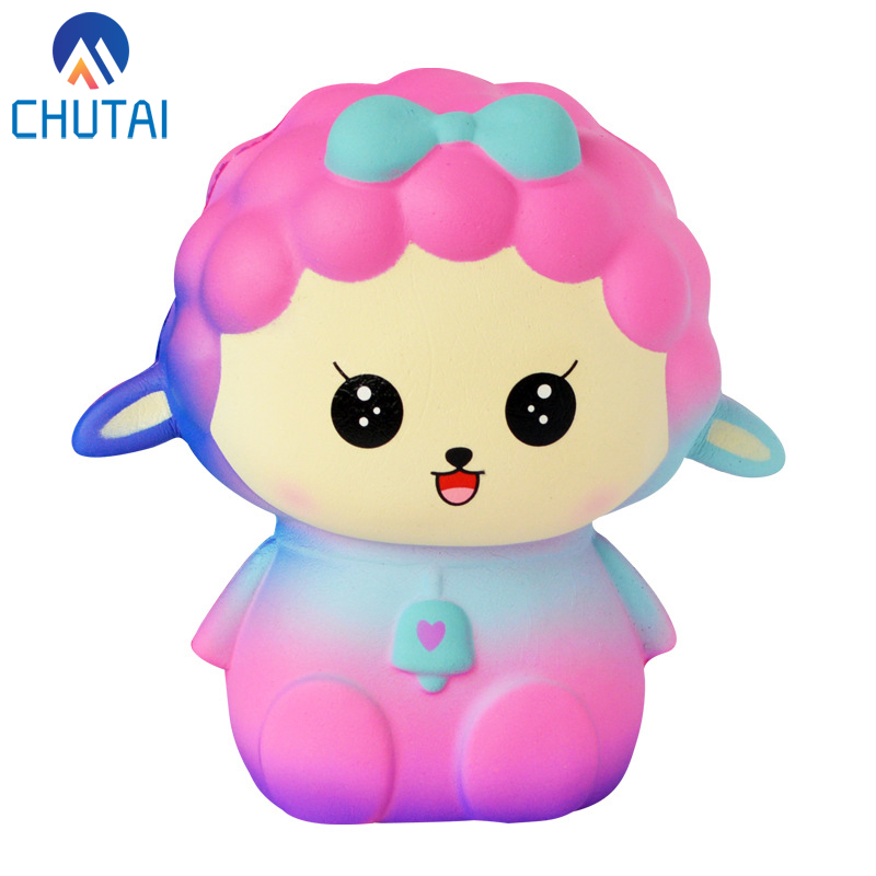 Jumbo Kawaii Cute Galaxy Sheep Squishy Bread Cream Scented Slow Rising Squeeze Toys Simulated Food Stress Relief Toy 12*8CM