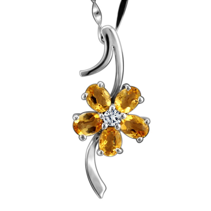 Natural Citrine Pendant Necklace 925 Sterling silver Woman Fine Elegant Gem Jewelry Birthstone Valentine Princess Gift SP0134CNatural Citrine Pendant Necklace 925 Sterling silver Woman Fine Elegant Gem Jewelry Birthstone Valentine Princess Gift SP0134C