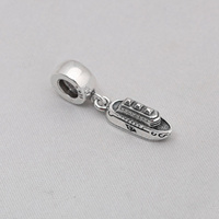 925 Sterling Silber Perlen Charme Mode Lose Rolle Silber Anhänger Fit Frauen Ursprüngliche Pandora Charme Bracelet & Bangle XCY195