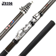 K8356 30T Carbon Spinning Telescopic Rock Fishing Rod 1.8/2.1/2.4/2.7/3.0/3.6M MH Power Carp Feeder Rod High Quality Hand Pole(China)