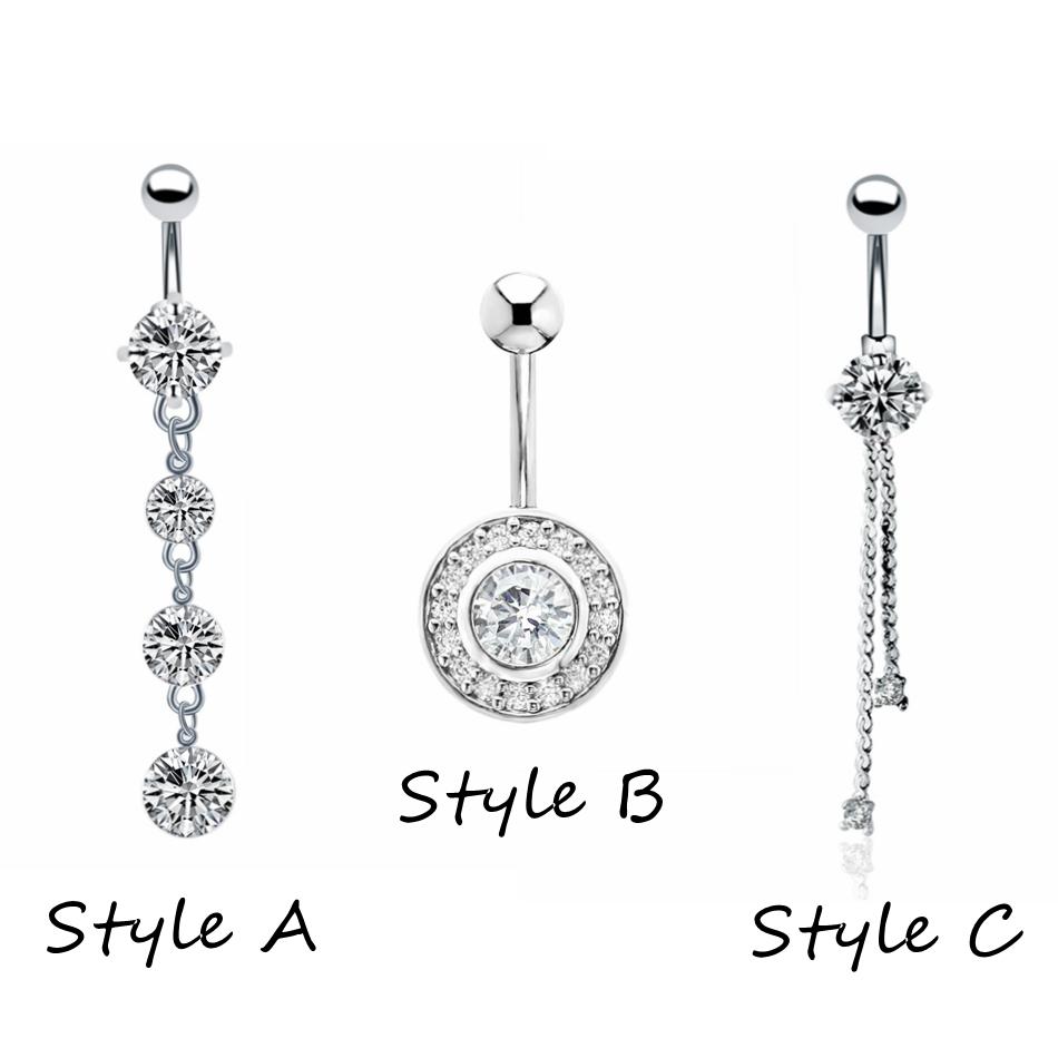 1 шт модные хирургические стальные пупковые кольца для пирсинга