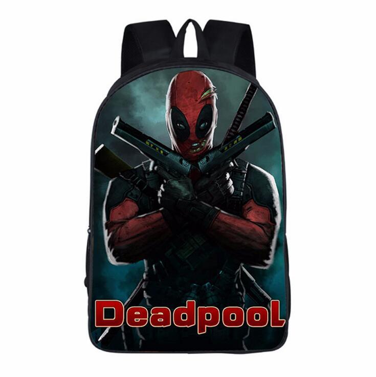 New Design Deadpool Cartoon Backpacks Comics Superheros Shoulders School Bag For Teenager Backpack Travel Rucksack Mochila Gift