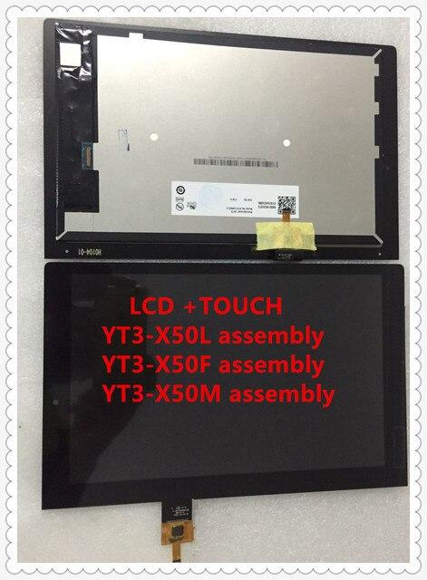 """באיכות גבוהה 10.1 """"אינץ lcd עם מגע עבור Lenovo 10.1 אינץ יוגה Tab 3 YT3 X50L YT3 X50M YT3 X50F 10.1 LCD תצוגת מגע עצרת"""