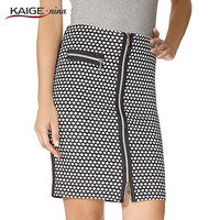 Kaigenina новинка горячая распродажа женщин мини-юбка с карманами длиной до колен геометрические мини-юбка 1080