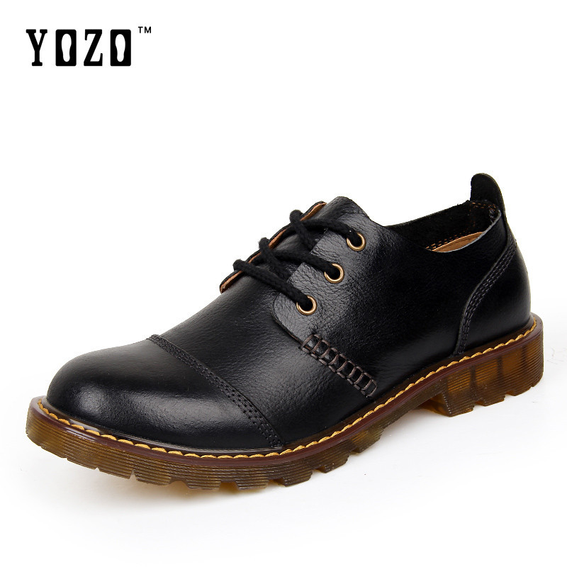2017 Genuine Leather Men Shoes Outdoor Work Oxford Shoes Lace Up Men's Casual Tooling Shoe Comfort Walking Flats leather casual shoes zapatillas hombre casual sapatos business shoes oxford flats hand made man shoe free shipping sv comfort