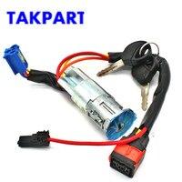 TAKPART Ignition Starter Barrel Lock for Citroen Xsara Picasso Peugeot 206 , 4162P0 992712