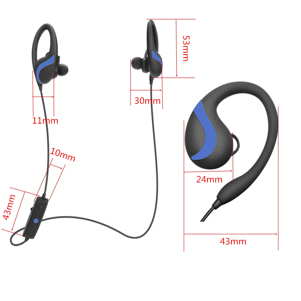 Image 4 - QAIXAG wireless hanging ear sports Bluetooth headset CSR8645 true stereo mobile phone accessories for mobile phones with Bluet-in Bluetooth Earphones & Headphones from Consumer Electronics