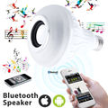 Wireless 12W Power E27 RGB LED Bulb 85-265V Bluetooth Speaker Smart Led Light Lamp Music Playing & Lighting with Remote Control