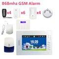 Домашняя система охранной сигнализации FSK-868mhz беспроводные системы сигнализации