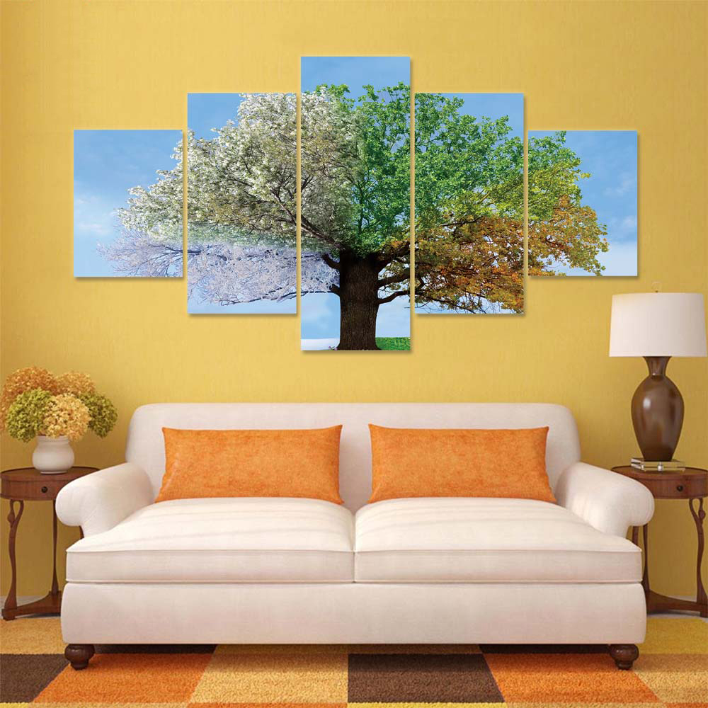 Abstract Cuadros Canvas Art Poster Style Wall 5 Panel Egypt Queen ...