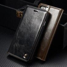 CaseMe For iPhone 8 8Plus 7 7Plus 6 6s Plus 5 5S SE Wallet Flip Case Luxury Retro Magnetic Leather Stand Cover Bag For iPhone X caseme for iphone 6s plus 6 plus wallet retro split leather cover with detachable pc case blue